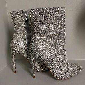 Steve Madden Winona rhinestone crystal short boots